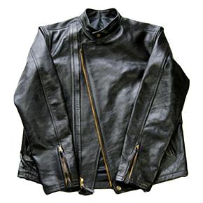 ホースハイドレザージャケットの表